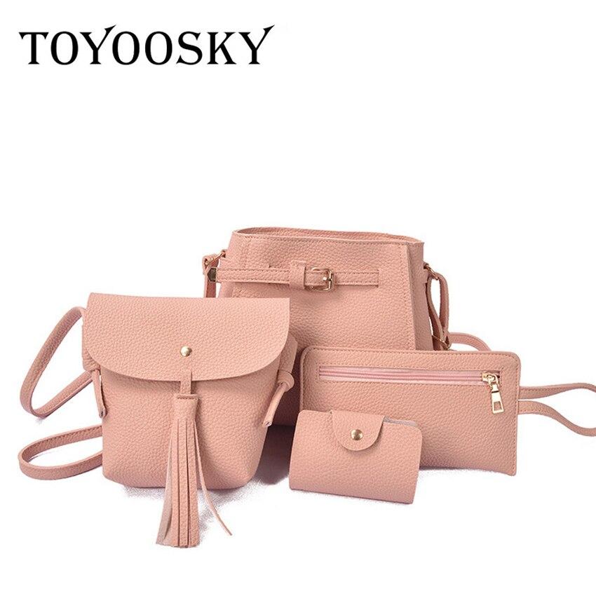 TOYOOSKY 4db / készlet összetett új divat női PU bőr pénztárca - Kézitáskák