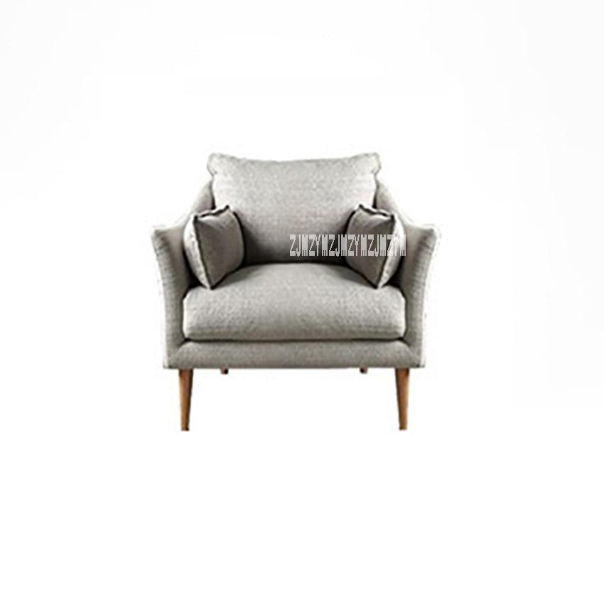 Office Single Small Sponge Lazy Sofa Balcony Modern Minimalist Living Room Fabric Sofa Bedroom Simple Study Relaxing Sofa Chair