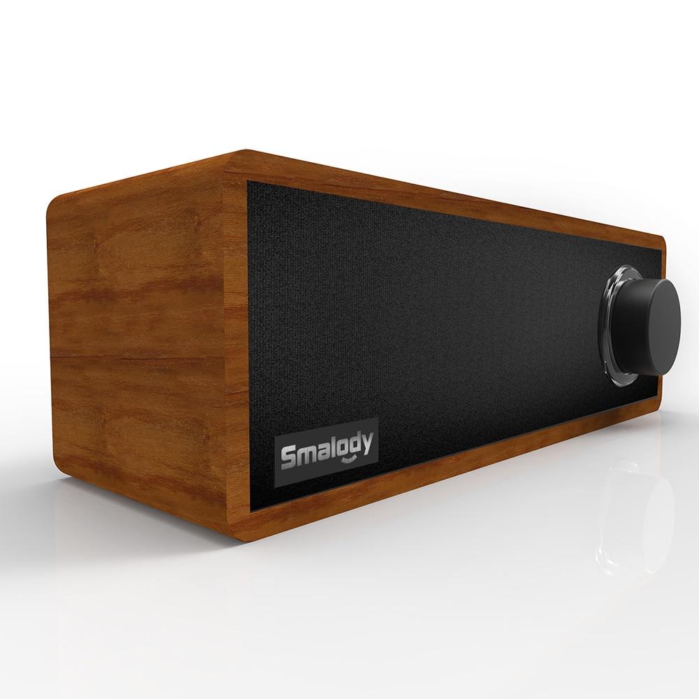 Unterhaltungselektronik Drahtlose Subwooferfor Holz Bluetooth Lautsprecher Smalody Sl-50 Desktop Wireless Soundbar Sound Box Starke Bass Für Smartphones Geschickte Herstellung