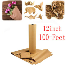 Brown Kraft Paper Roll Gift Wrapping wedding decoration Recycled Perfect for Party decoration, Crafts, Art, Box Packaging
