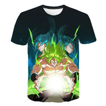 Summer High Quality Latest Fashion Harajuku Mens and Womens t-shirts Dragon Ball 3D Printed T-shirts Round Collar T-shirt Top