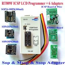 Бесплатная Доставка в Исходном RT809F программист + VGA ЖК-ICSP Программист + ICSP кабель доска + 6 Адаптеры 24 25 93 serise IC