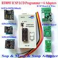 Frete Grátis Original ICSP Programador RT809F programador + VGA LCD + cabo ICSP bordo + 6 Adaptadores 24 25 93 serise IC