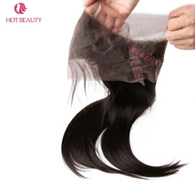 Hot Beauty Hair 22*4*2 Straight Brazilian Remy Hair Pre Plucked 360 Lace Frontal Natural Hairline 100% Human Hair