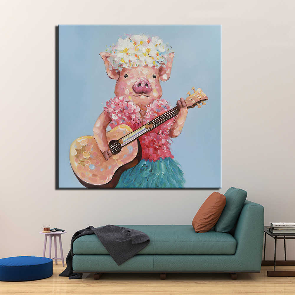 Wall Art Modular Canvas HD Prints Posters Home Decor Pictures 1 Piece Abstract pig Art Paintings Framework