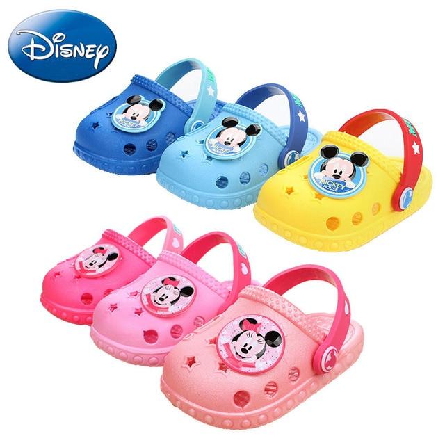1ef107be6 2018 Summer Cartoon Disney Mickey Baby Beach Slipper Kid Sandals Wholeas  EVA Anti-slip Girls Boys Slippers Children Garden Shoes