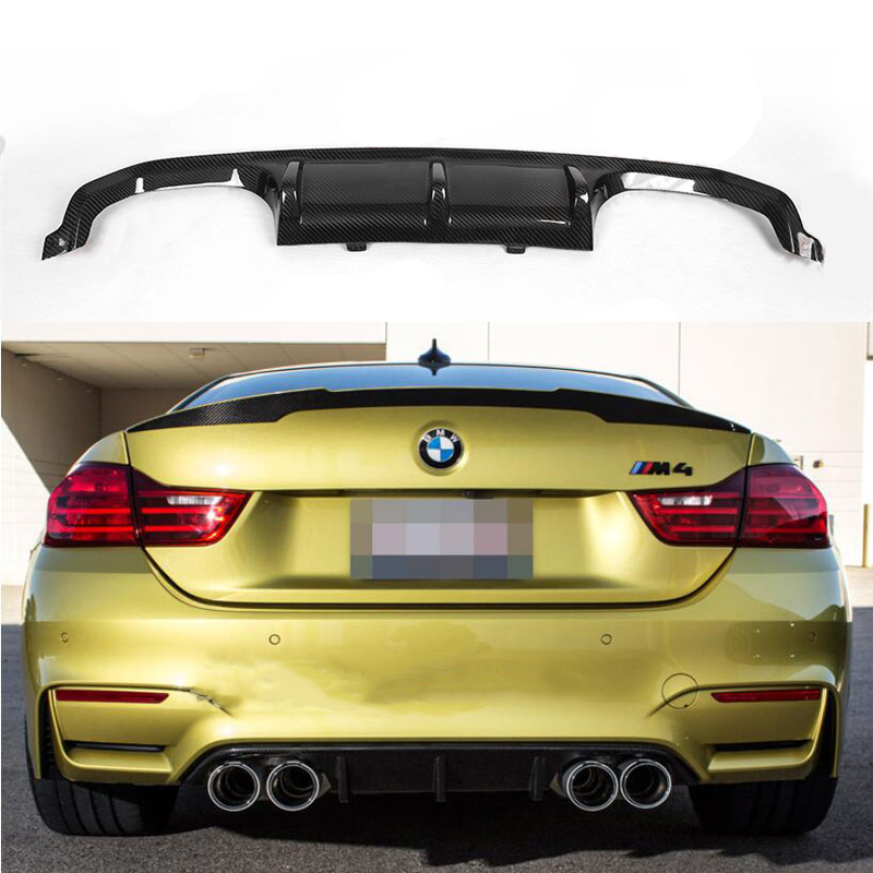 Fit For BMW F80 F82 F83 M3 M4 2014-2018 Rear Bumper Diffuser Bumpers Lip Protector Guard 2 door and 4 door carbon fiber image