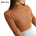 Spring Sweaters 2017 Women Pullover Half Turtleneck Solid Elegant Casual Full Sleeve Warm Tops S-XL women sweaters and pullover
