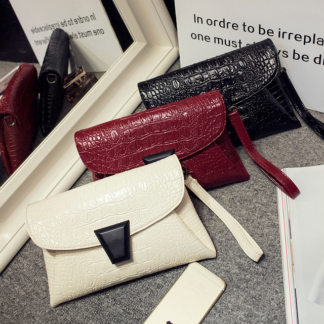 women small aligator evening handbags hotsale luxury ladies mobile purse crossbody bags casual famous designer envelope clutch