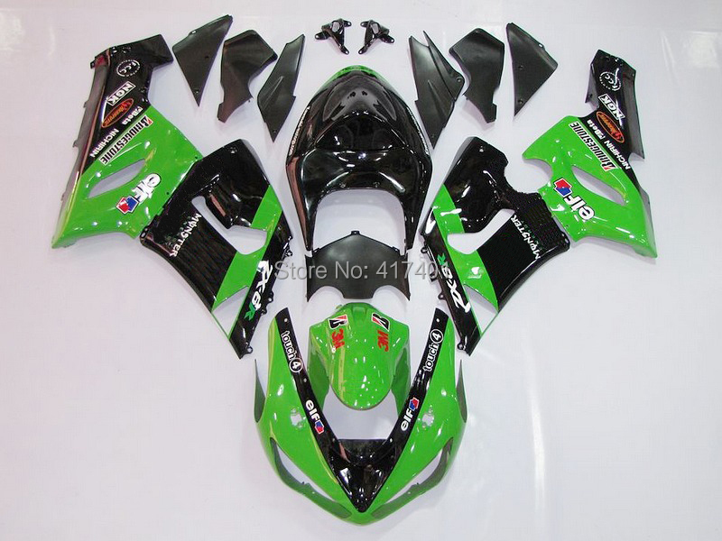 100%NEW+ Green black fairing kit FOR KAWASAKI NINJA ZX 6R 636 05 06 ZX-6R 05-06 ZX6R 2005 2006 ZX 6R 05 06 fairings Free custom  цена