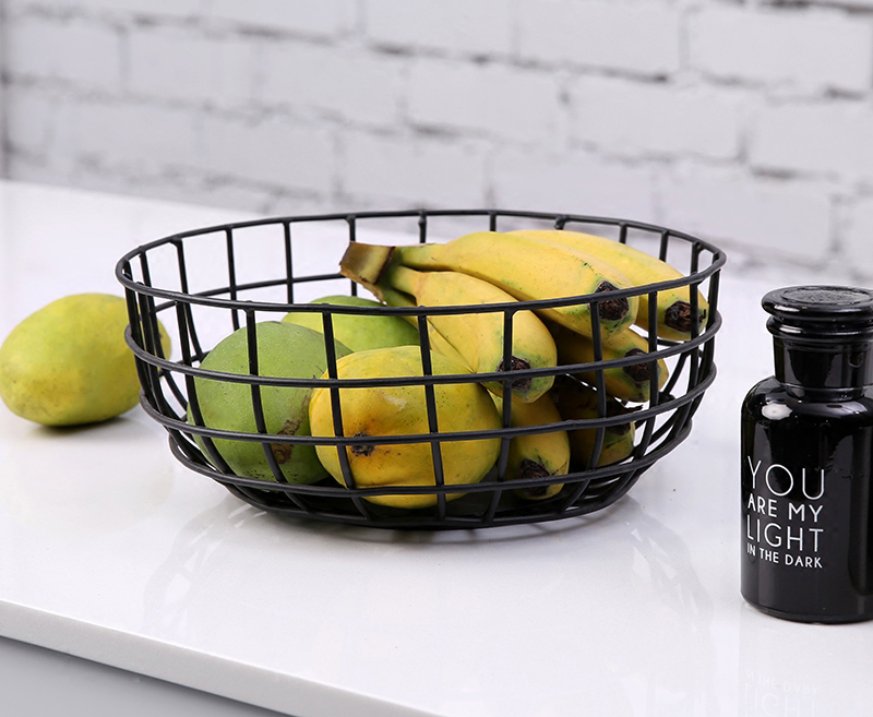 Minimalist Modern Design Metal Steel Fruit Basket Storage