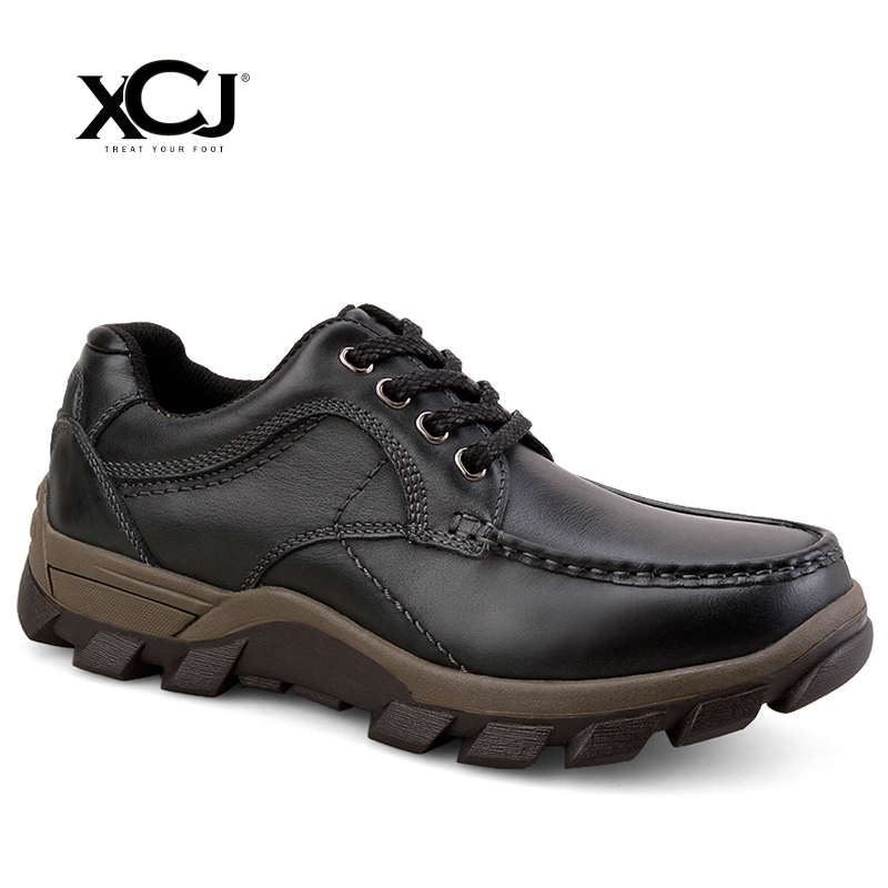 Genuine Leather Men Shoes Brand Casual Shoes For Men Flats Men Sneakers Spring Autumn Plus Big Size Slip On High Quality XCJ new spring autumn genuine leather men casual shoes man flats fashion suede flat handmade shoe waterproof non slip high quality