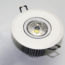 Free Shipping Dimmable 10W COB LED Ceiling Light 110V 220V Warm White Cold Recessed Lamp Down For Home Lighting