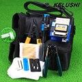 KELUSHI 13 В 1 FTTH-Fiber Optic Tool Kit с FC-6S волоконно Кливер и 5 МВт Визуальный Дефектоскоп Волокна и Инструмент Для Зачистки айрлайд