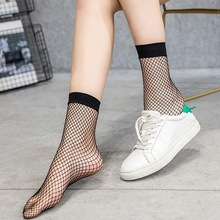 Womens sock Black Mesh Short Ankle Socks Women Sexy Female Summer short Fish Net