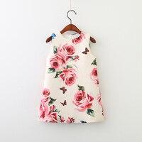 Mother And Daughter Dress New Girl Mother Vest Skirt Flower Sleeveless Printed Dress Princess Skirt A Line Skirt 2 9 Ye