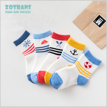 5 Pair/lot Baby Boy Socks Newborns Cotton Summer Autumn Cartoon Socks Infant Toddle Socks Kids Short Socks for 0-2Years 1