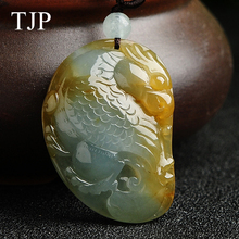 TJP Yellow Emerald Beautiful stone Jade eagle Jewelry accessories Authentic pendant necklace SG098 Free shipping