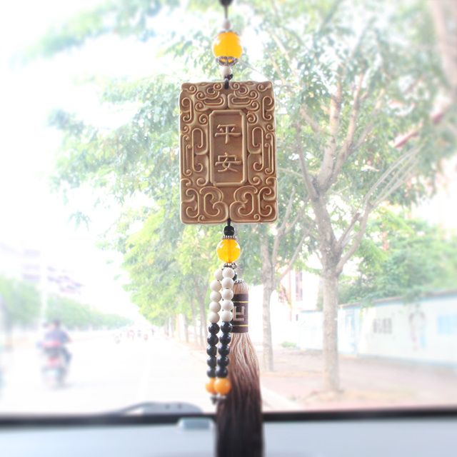 Chinese Traditional Lucky Decoration Pendant Car Keys Ornaments Wood