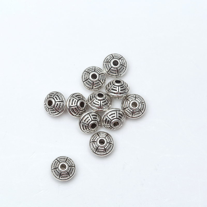 8 Multi Patterns Alloy Silver Gold Loose Spacer font b Beads b font font b Jewelry