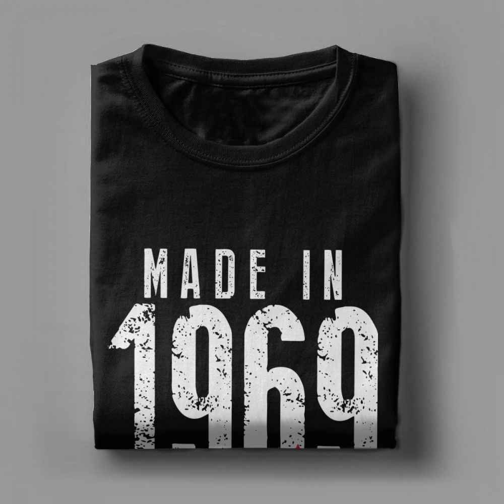 Men T Shirt Made In 1969 All Original Parts Vintage Short Sleeves 50th Birthday Tees O