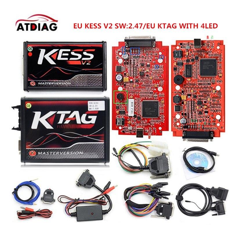 ЕС KESS V2 V5.017 SW V2.47 Ktag К TAG V7.020 мастер ЭКЮ чип инструмент настройки KESS V2.47 онлайн работать DHL бесплатная