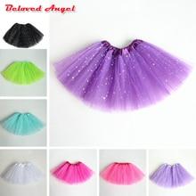 Юбки-пачки для девочек юбка балерины для малышей Детская Пышная юбка из тюля, детская танцевальная балетная юбка для девочек, повседневная юбка ярких цветов для детей возрастом от 2 до 8 лет