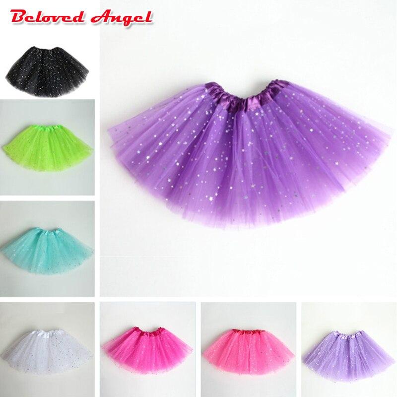 Girls Tutu Skirts Baby Ballerina Skirt Children Fluffy Tulle Skirt Kids Dance Ballet Skirt For Girl Casual Candy Colors 2-8years