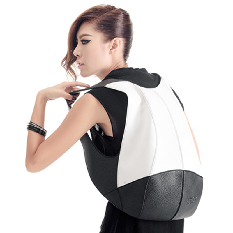 Women Backpack Fashion PVC Faux Leather Turtle Backpack Leather-Bag Women Traveling AntiTheft Backpack Black White Free shipping faux leather flowers mini backpack