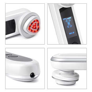 KONMISON LED Photon Therapy RF Radio Frequency Facial Beauty Machine EMS RF Lifting Ion Cleansing Vibration Eye Face Massager