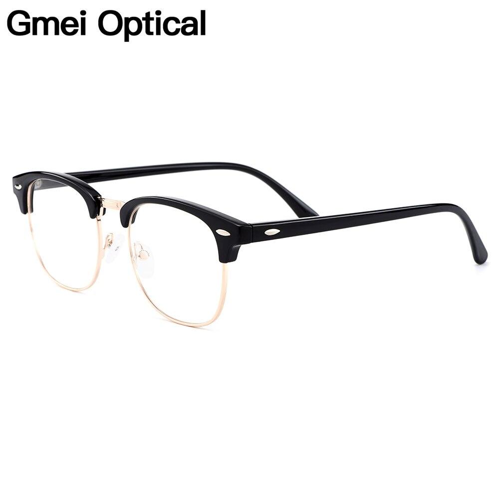 Gmei optique rétro pleine jante en plastique lunettes cadre pour hommes et femmes myopie presbytie lecture Prescription lunettes H8004