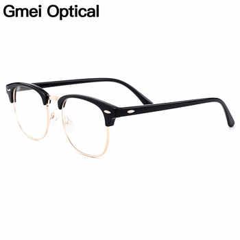 Gmei Optical Retro Full Rim Plastic Glasses Frame For Men And Women Myopia Presbyopia Reading Prescription Eyeglasses H8004 - DISCOUNT ITEM  78% OFF All Category