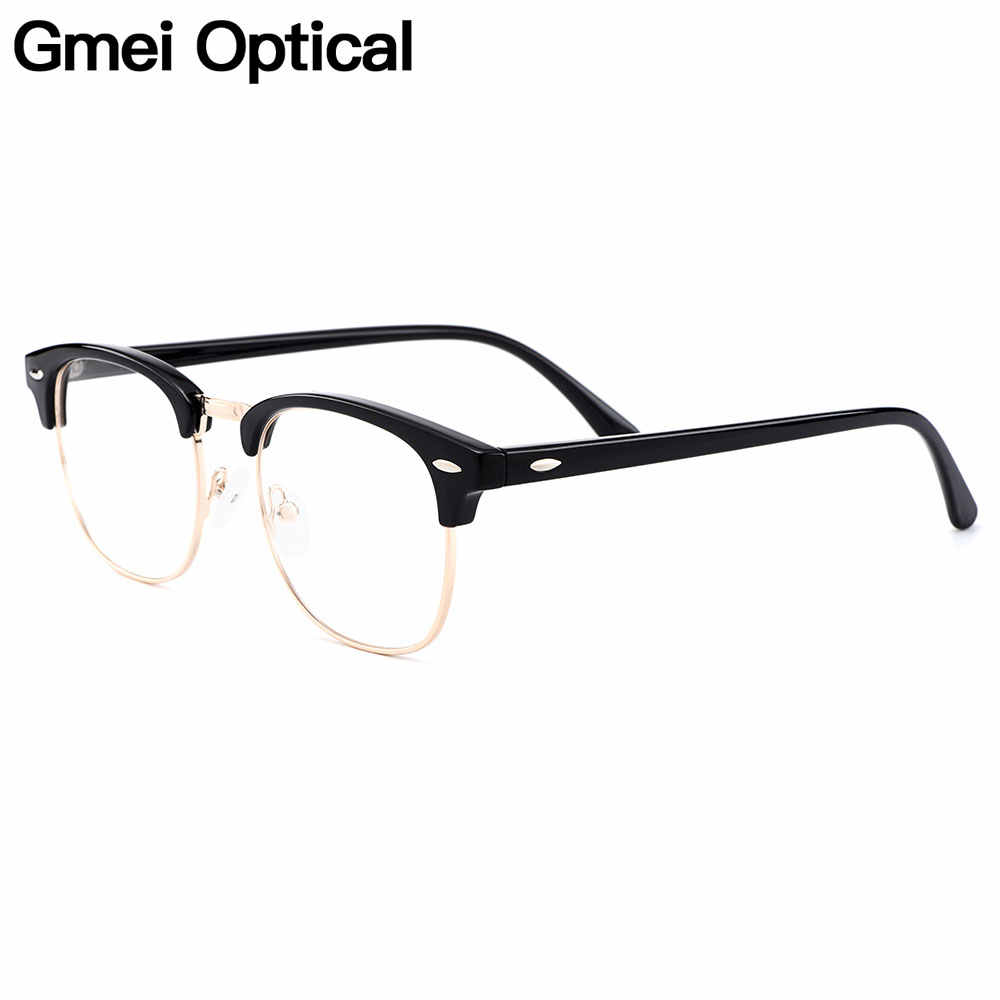 Gmei Optical Retro Full Rim Plastic Glasses Frame For Men And Women Myopia Presbyopia Reading Prescription Eyeglasses H8004