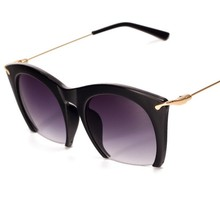 J33 Brand New ladies sunglasses Retro Semi-Rimless UV400 cat eye Women Metal legs Vintage Sunglasses Brand designer