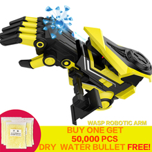 цена на Water Gun Transformation Robot Arm Cosplay Electric Water Bullet Guns Boy Toy for Children Airsoft Orbeez Guns
