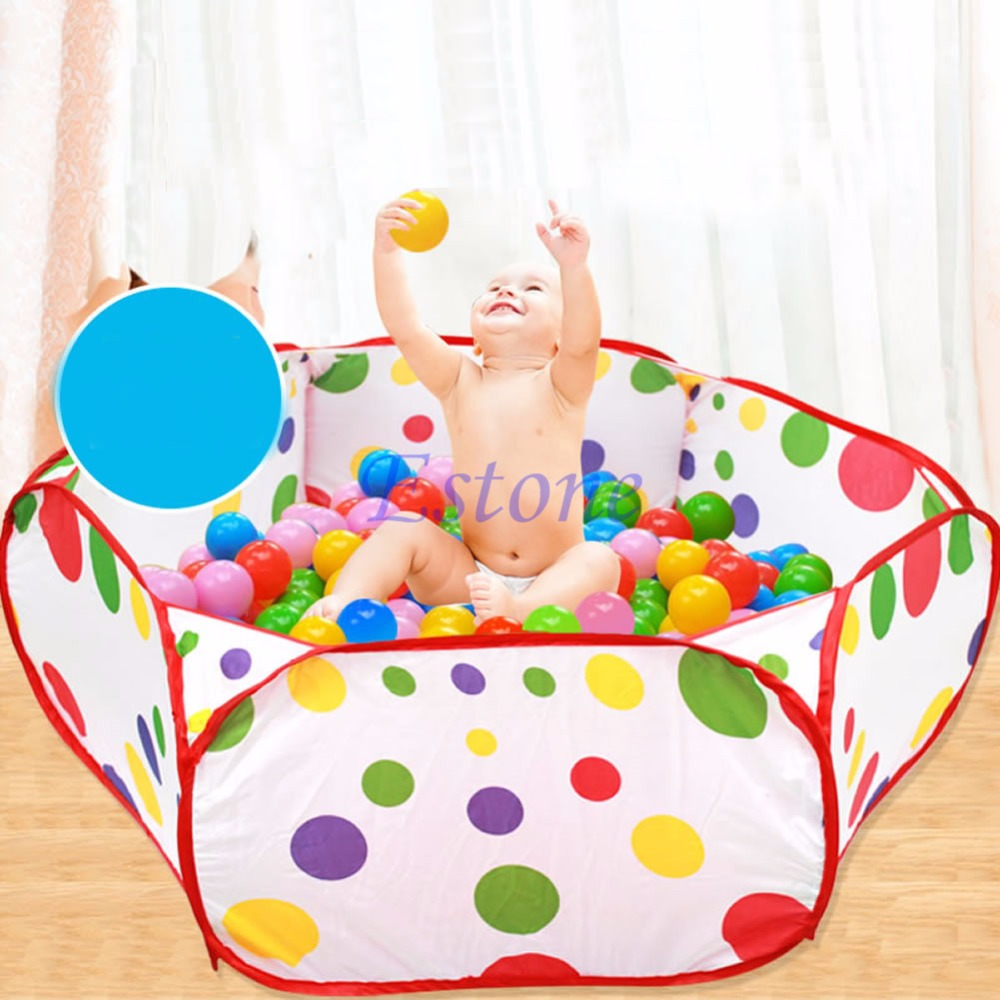 Foldable Kids Children Ocean Ball Pit Pool Game Play Toy Tent Baby Safe Playpen Diameter 1M