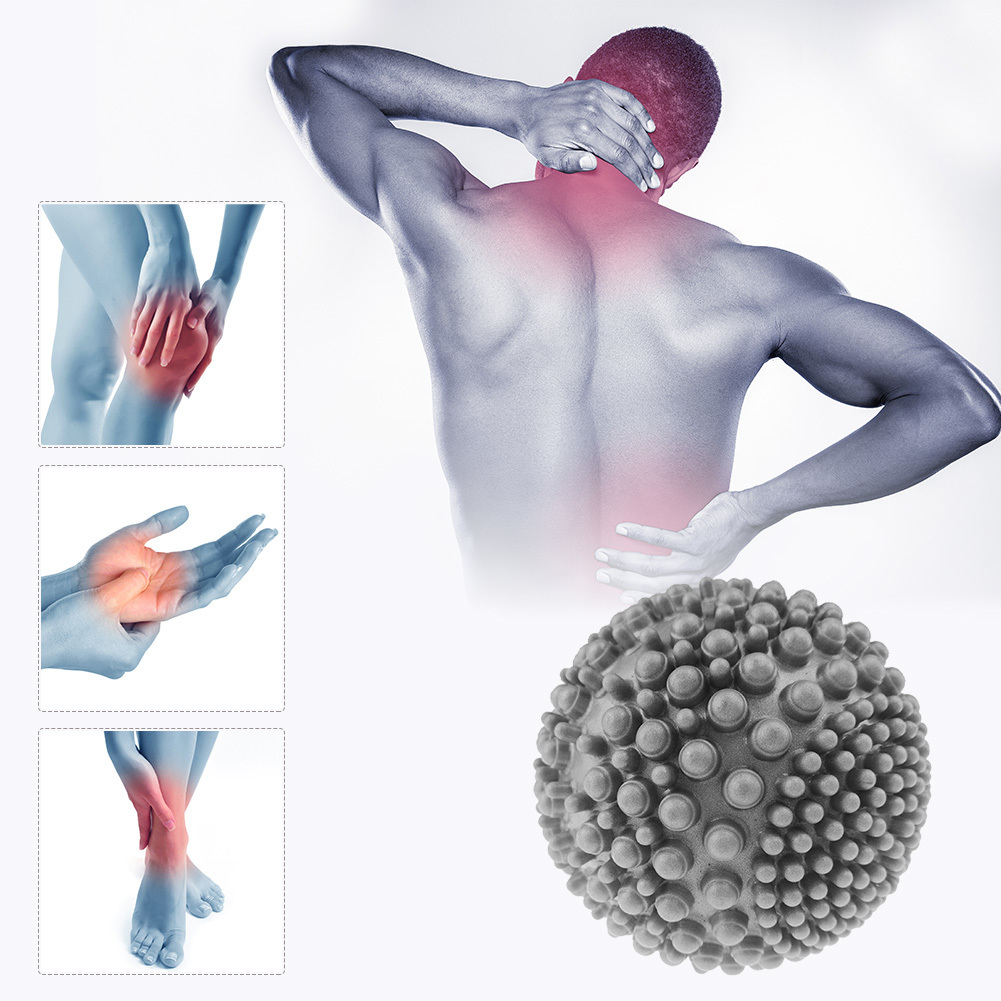 9CM Massage Ball Compression Fitness Balls-Plantar Fasciitis Foot Back Neck Deep Tissue Massage,Myofascial Trigger Point Therapy
