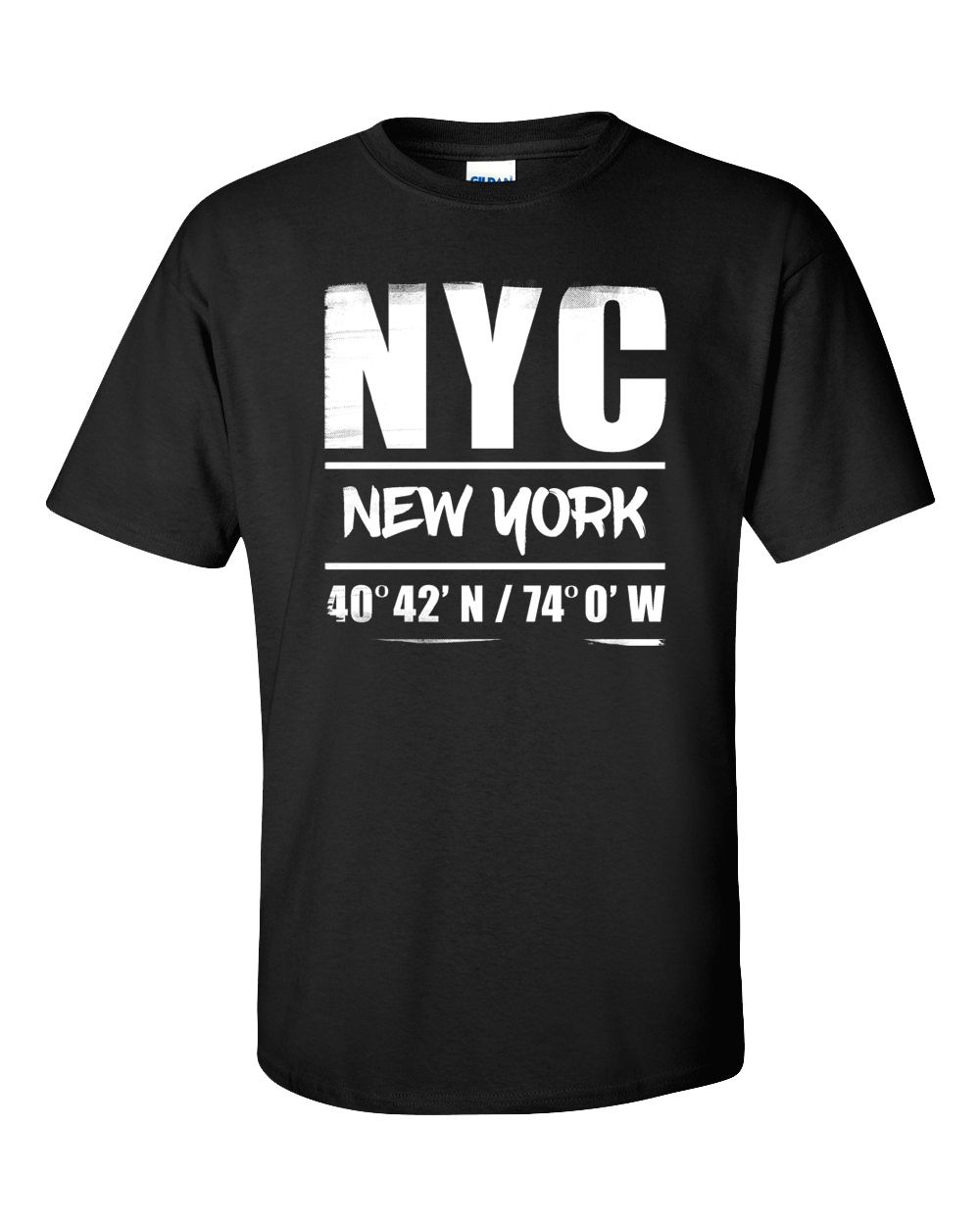 New York City T Shirt NYC Cities States US Coordinates