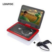 Lonpoo dvd-плеер 10.1 дюймов Экран Портативный dvd-плеер Зарядное устройство USB SD Card с Перезаряжаемые Батарея CD dvd-плеер apbat