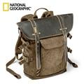 Venta al por mayor Nacional Geographic África colección NG A5290 A5280 ordenador portátil mochila SLR bolsa de la Cámara lona auténtico bolso de la foto de cuero