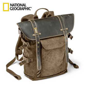 Wholesale National Geographic Africa Collection NG A5290 A5280 Laptop Backpack SLR Camera Bag Canvas Authentic Leather Photo Bag - DISCOUNT ITEM  71% OFF All Category