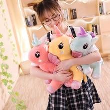 New 1pc 25cm/35cm Kawaii Unicorn Plush Toys  Stuffed Animal Horse for Children Soft Doll Home Decor Lover Birthday Gift