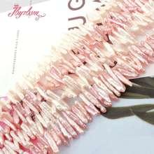 """4x15 5x20mm Reborn Keshi Biwa Perle Dacqua Dolce della perla Branelli Allentati di Pietra Naturale Per FAI DA TE Collana Monili Che Fanno Str 15"""""""
