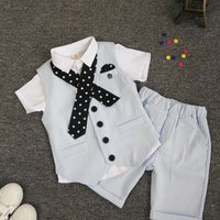 Kids Boys Summer Clothing Sets Formal Clothes For Wedding And Party Children's Cloth Outerwear Sport Newborns Boy Set Suit 3 PCS