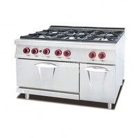 GH 997A коммерческих Кухня оборудования Кабинета 6 горелки газовые Пособия по кулинарии спектр промышленных Комбинации газовая духовка Поход