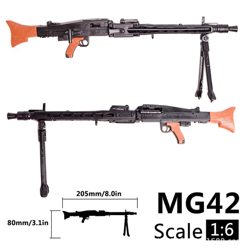 1/6 Scale 12 inch Action <font><b>Figures</b></font> Accessories WWII MG42 Heavy Machine Gun Toys 1/100 MG Bandai Gundam Accessory Model Toys Gift image