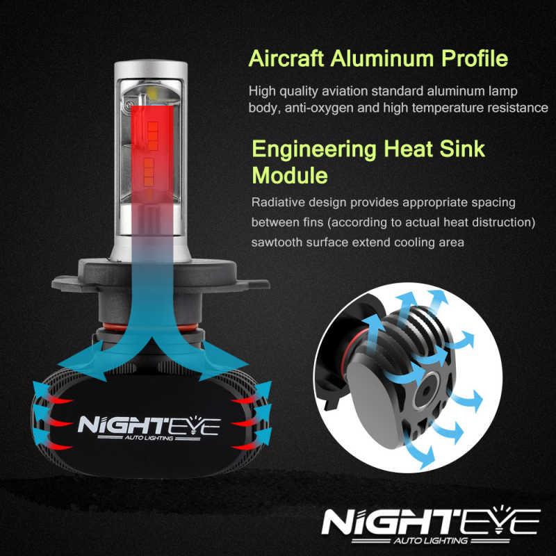 NIGHTEYE H4 H8 H7 H11 9005 9006 светодиодный автомобильный головной светильник 8000лм сеульские чипы CSP светодиодный головной светильник s все в одном головной светильник передний светильник