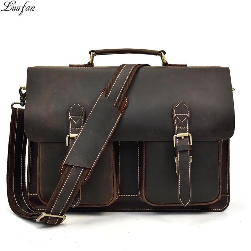 AETOO Leather handbag men s soft leather diagonal bag casual men s first layer leather shoulder