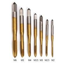 Ручной инструмент титановый станок M2/M2.5/M3/M3.5/M4/M5/M6 HSS метрический прямой слот резьбовой кран