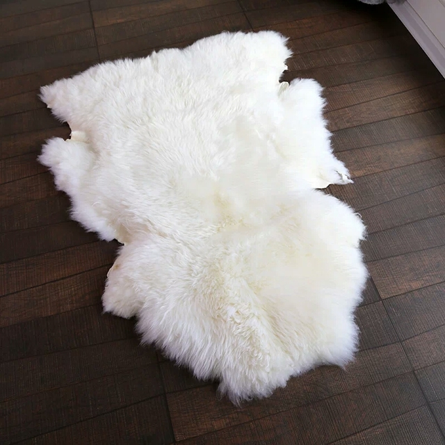 royal quality 95120cm sheepskin rug for home decor uncut natural sheep fur cushion rug
